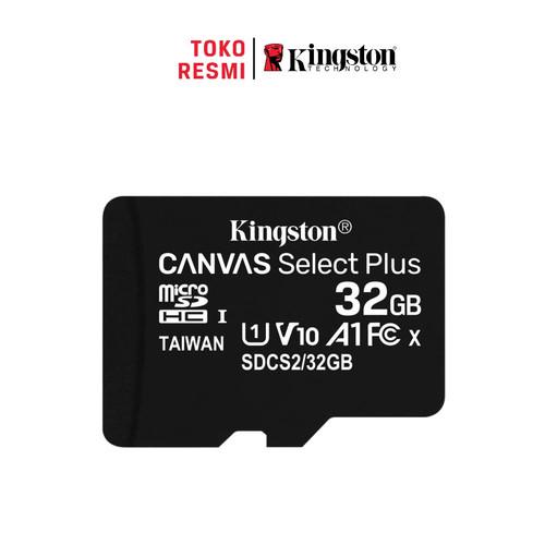 Foto Produk Kingston MicroSD Card Canvas Select Plus Class 10 MicroSDHC 32GB dari Kingston Official Store