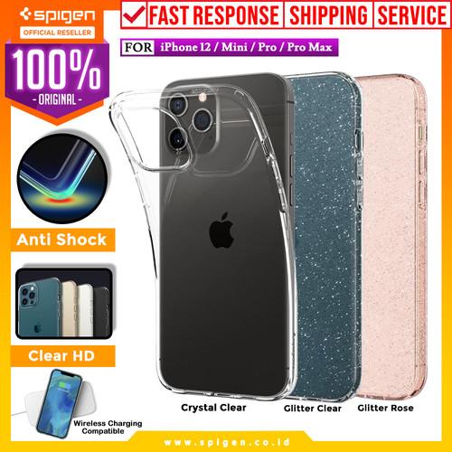 Foto Produk Case iPhone 12 Pro Max / Pro / Mini Spigen Liquid Crystal Clear Casing - 12 Mini, Glitter Clear dari Spigen Official