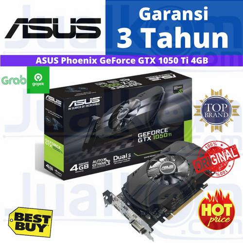 Foto Produk VGA ASUS GeForce GTX 1050Ti GTX1050TI 4GB 4 GB PHOENIX DDR5 dari Karya Citra Computers