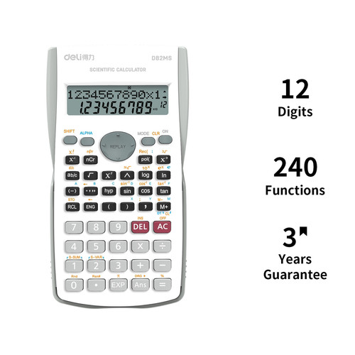 Foto Produk Deli Scientific Calculator Kalkulator Scientific 240 Function ED82MS - Putih dari Eroc Official Store