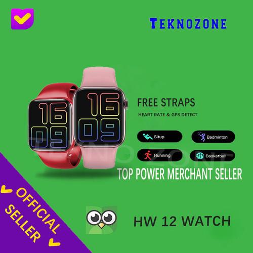 Foto Produk HW12 Smartwatch New Version 2020 - Merah Muda dari Tekno Zone