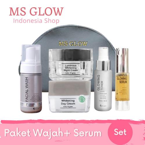 Foto Produk Paket Ms Glow + Serum - Paket Whitening, Serum Peeling dari MS Glow Indonesia Store