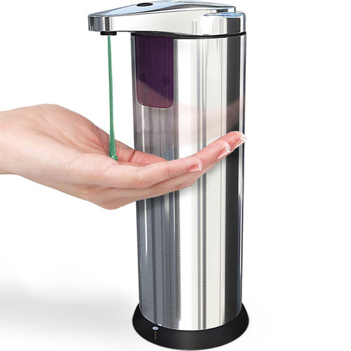 Foto Produk DISPENSER SABUN OTOMATIS Handsoap Hand Sanitizer StainlessSteel Sensor dari Tasneem