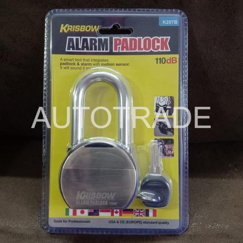 Foto Produk GEMBOK ALARM HEAVY DUTY KRISBOW K207B / ALARM PADLOCK / ANTI MALING dari Autotrade