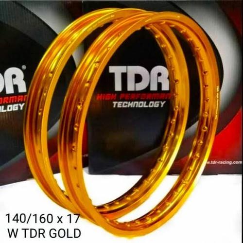 Foto Produk Velg TDR W Kotak 140 160 Ring 17 Gold ORIGINAL not tk excel rossi - 14 dari Fath91