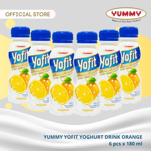 Foto Produk Yummy Yofit Yoghurt Drink Orange 6 x 180ml dari YUMMY Dairy