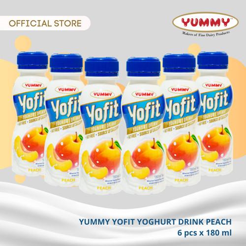 Foto Produk Yummy Yofit Yoghurt Drink Peach 6 x 180ml dari YUMMY Dairy