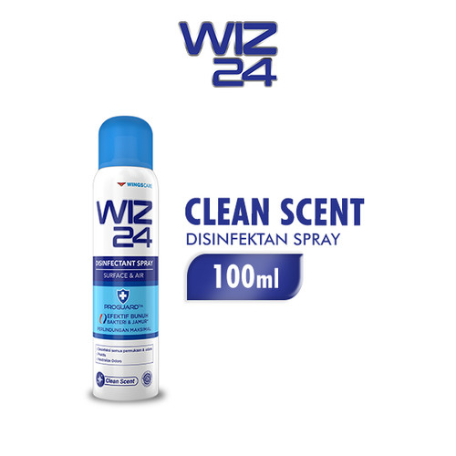 Foto Produk WIZ 24 Disinfectant Spray Aerosol - Clean Scent 100ml dari Wings Official Store