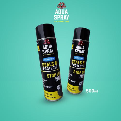 Foto Produk Aqua Spray - Atap Anti Bocor Rubber Sealant Spray 500ml Buy 1 Get 1 - Hitam dari Sava-Store
