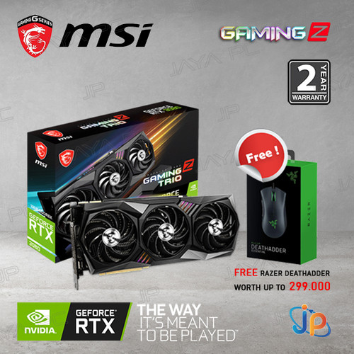 Foto Produk VGA MSI Geforce RTX 3080 10GB Gaming Z Trio - 10 GB DDR6X dari Jaya PC