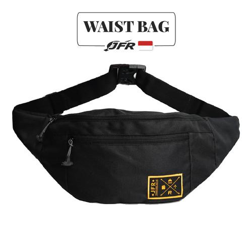 Foto Produk JFR Tas Pinggang Waist Bag Bahan Polyester JT02 Black - Hitam dari Jennifer Wallet