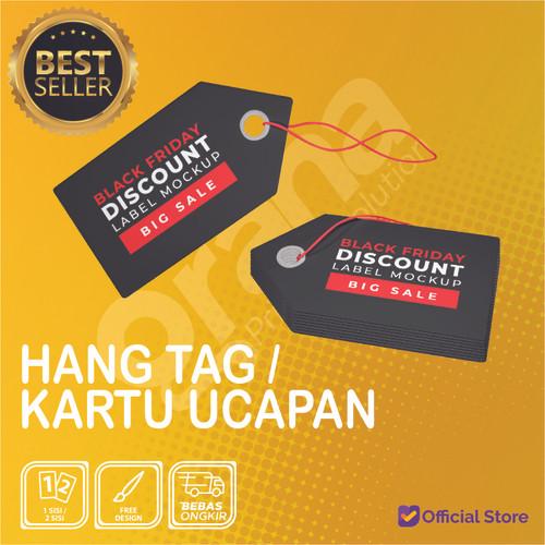 Foto Produk Hang Tag Label / Hang Tag Baju / Pakaian / Kartu Ucapan - Art Carton 210, Custom Size dari Graha Printing