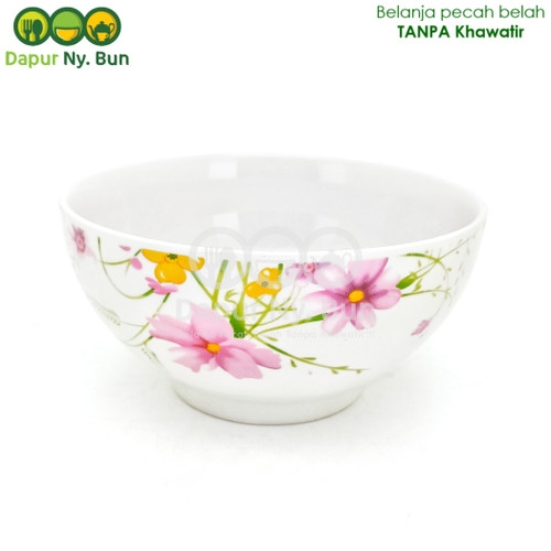 Foto Produk Mangkok Nasi Besar Motif AXIO FLOWER / Mangkuk Nasi 6Inch dari Dapur Ny.Bun