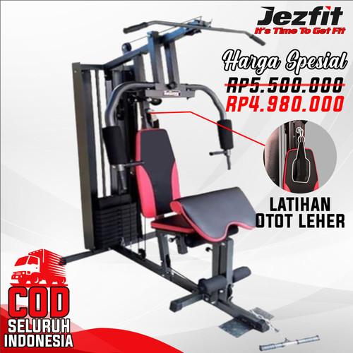 Foto Produk Alat fitness Home gym 1 sisi Alat Gym Multifungsi - Merah dari Jezfit