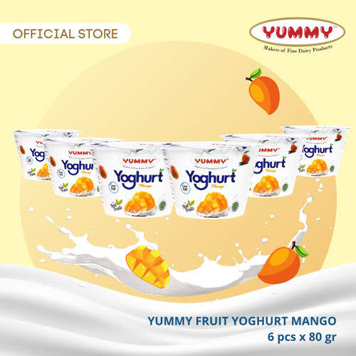 Foto Produk Yummy Fruit Yoghurt Mango 6 x 80g dari YUMMY Dairy