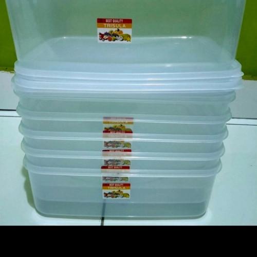 Foto Produk kotak donat KMP / toples makanan/ mutiara pack 3500ml/ wadah - TRISULA dari Perabot Aneka 78