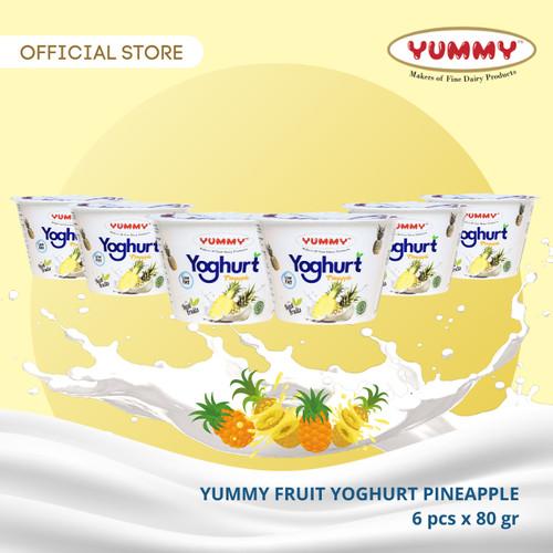 Foto Produk Yummy Fruit Yoghurt Pineapple 6 x 80g dari YUMMY Dairy