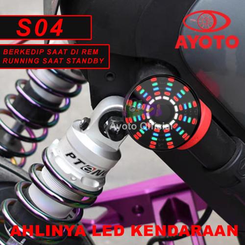Foto Produk (2 Pcs) Lampu Stop Motor Flash & Running dari Ayoto Official