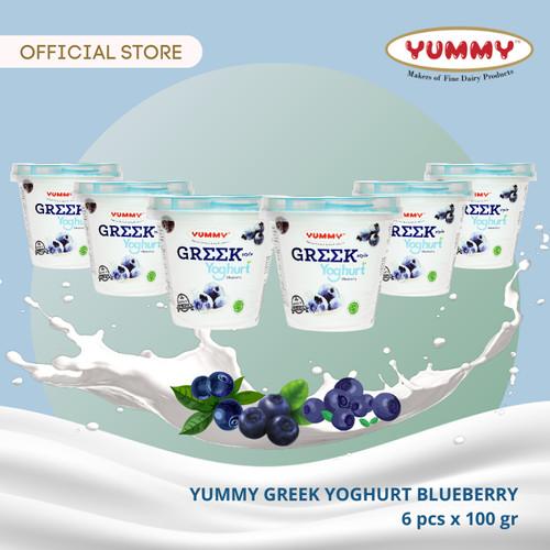 Foto Produk Yummy Greek Yoghurt Blueberry 6 x 100g dari YUMMY Dairy