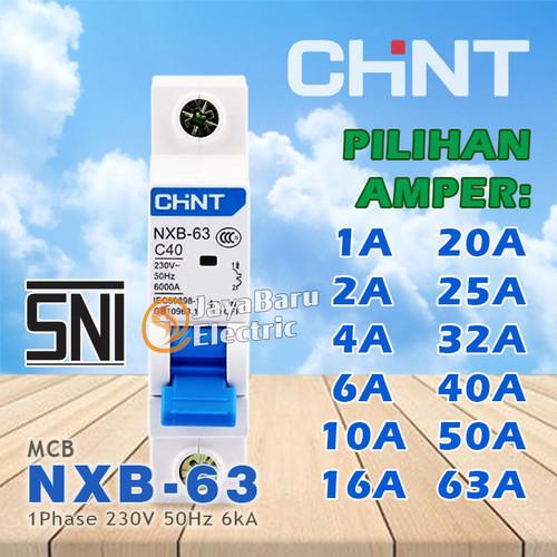Foto Produk MCB Chint NXB-63 1P 1A 2A 4A 6A 10A 16A 20A 25A 32A 40A 50A 63A - 20A dari Toko OL Sinar Jaya Baru