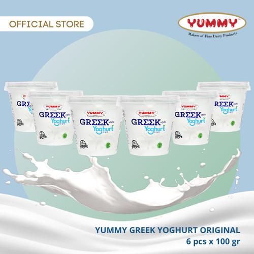 Foto Produk Yummy Greek Yoghurt Original 6 x 100g dari YUMMY Dairy