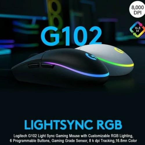 Foto Produk Mouse Logitech G102 V2 Lightsync RGB Mouse Gaming V-2 G-102 Wired dari PojokITcom Pusat IT Comp