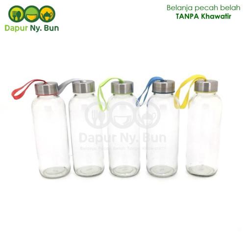 Foto Produk Botol Minum Kaca / Ukuran 450ml / Round Bottle / Sedang dari Dapur Ny.Bun