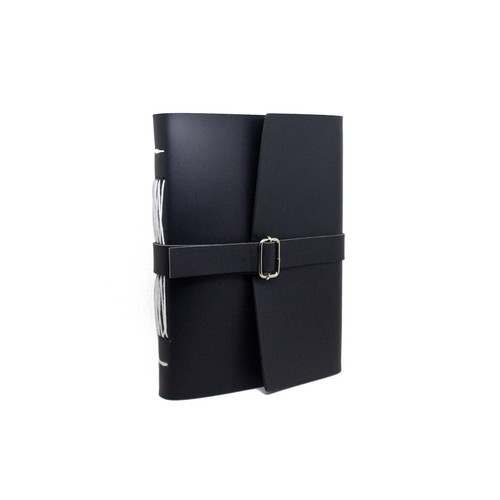 Foto Produk Bookbinding / journal book / buku catatan / sketchbook / ukuran A5 - Hitam dari Empat Pagi Handmade