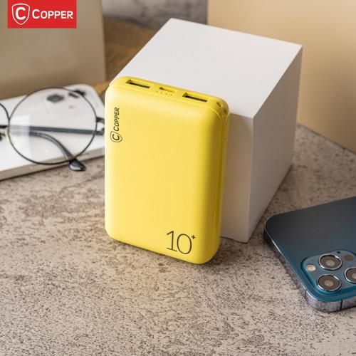 Foto Produk COPPER POWERBANK 10000MAH - CP1004 SERIES - Kuning dari Copper Indonesia