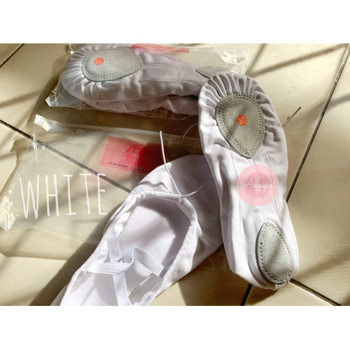 Foto Produk Sepatu Balet Kanvas Polos - Remaja & Dewasa - Putih, 35 dari Adagio Ballet