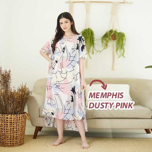 Foto Produk Oriana DASTER BUSUI PENDEK Memphis Line Series - DustyPink dari Oriana Homewear