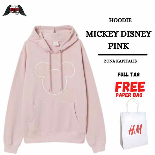 Foto Produk Hoodie H&M Mickey Mouse Disney Pink FREE PAPER BAG Pria Wanita HnM - M dari RIOTBrand