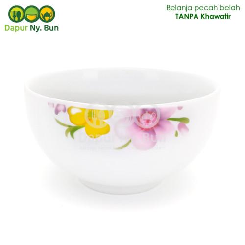 Foto Produk Mangkok Nasi Kecil Motif Axio Flower Ukuran 4 Inch / Mangkuk Sup 11cm dari Dapur Ny.Bun