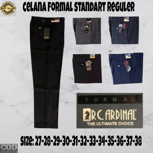 Foto Produk Celana bahan CARDINAL | Kain | Formal kantor | Slim fit pria hitam - Hitam, 31 dari AWI clothing store