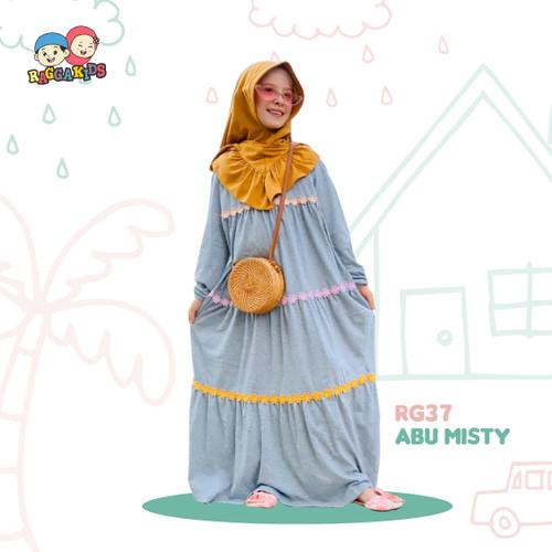 Foto Produk Baju Muslim Gamis Couple Ibu Anak Raggakids RG 37 Abu - GAMIS ANAK XXL dari LittleSarah Baby Kids Sh