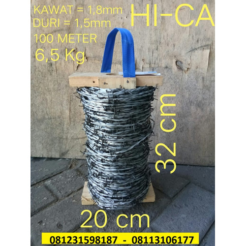 Foto Produk Kawat Duri Hica 1.8 mm panjang 100 meter dari kridajayasentosa