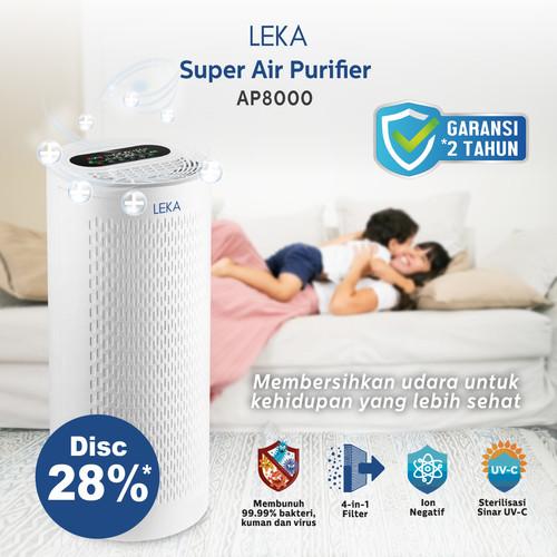 Foto Produk LEKA AP8000 Super Air Purifier - HEPA13 Filter UVC Ion Negatif HEPA UV dari Kogara