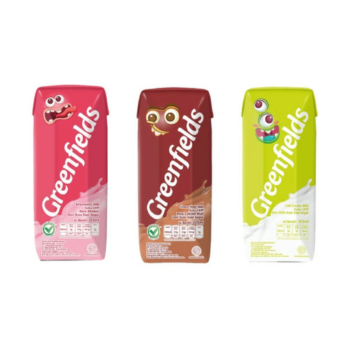 Foto Produk GREENFIELDS UHT 125ML 1 Karton isi 40pcs(Chocomalt,Strwbrry/Fullcream) - Strawberi dari Pesan Kirim Store