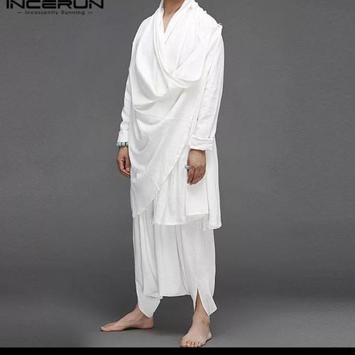 Foto Produk 2 pcs moeslim jubbah / baju gamis muslim jubah kurta dari Kuro-Shiro