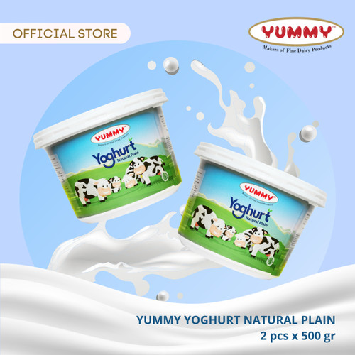 Foto Produk Yummy Yoghurt Natural Plain 2 x 500g dari YUMMY Dairy