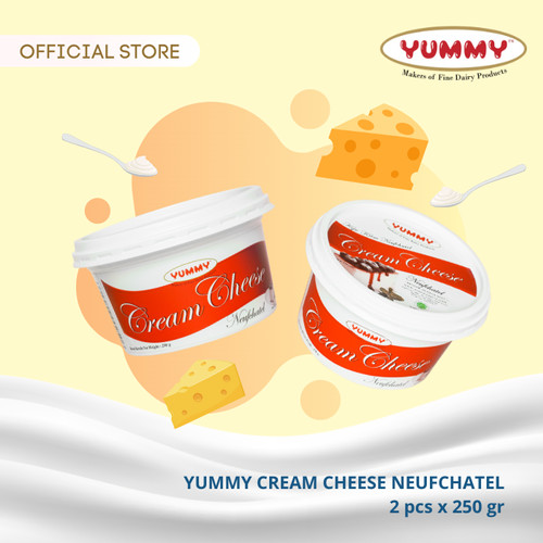 Foto Produk Yummy Cream Cheese Neufchatel 2 x 250g dari YUMMY Dairy