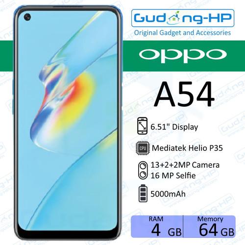 Foto Produk OPPO A54 4/64 GB Garansi Resmi - Biru dari Gudang-HP