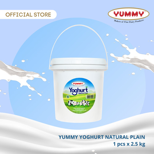 Foto Produk Yummy Yoghurt Natural Plain 1 x 2.5kg dari YUMMY Dairy