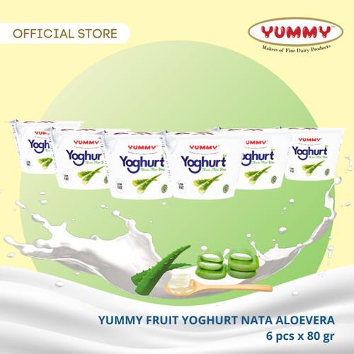 Foto Produk Yummy Fruit Yoghurt Nata Aloevera 6 x 80g dari YUMMY Dairy