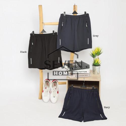 Foto Produk celana pendek olahraga 203 running badminton gym - Hitam, L dari sevenhome