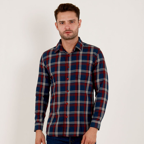 Foto Produk Edwin Jeans Flannel Shirt Evano - Man - Biru, S dari Edwin Jeans