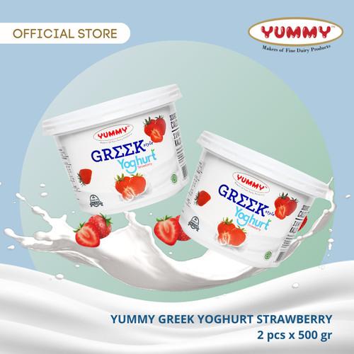 Foto Produk Yummy Greek Yoghurt Strawberry 2 x 500g dari YUMMY Dairy
