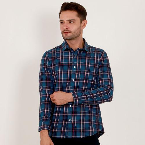 Foto Produk Edwin Jeans Flannel Shirt Damian - Man - Biru, S dari Edwin Jeans