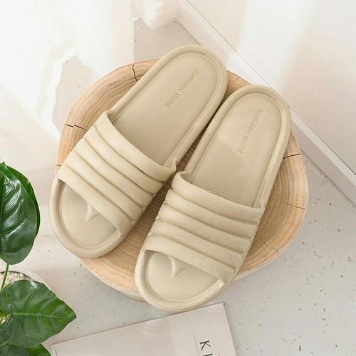 Foto Produk Sandal Rumah/Sandal anti slip/sandal selop/Sandal Kamar Mandi/anti air - Cream, 42-43 dari kurniasquare