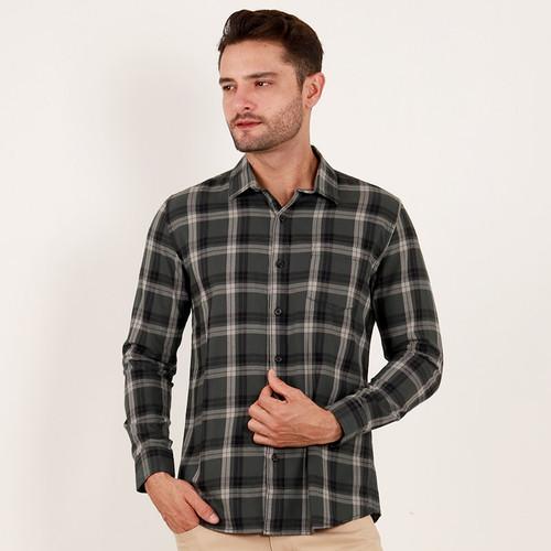 Foto Produk Edwin Jeans Flannel Shirt Mahendra - Man - Hijau, M dari Edwin Jeans